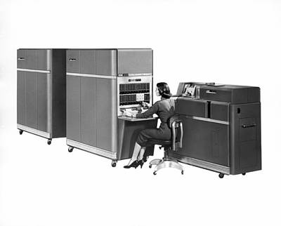 Ibm 650 Computer Print by Underwood Archives