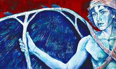 Minotaur Painting - Icarus by Derrick Higgins