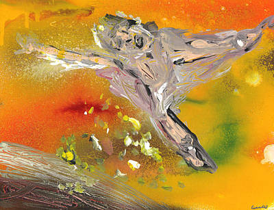 Soaring Painting - Icarus by Mike Cicirelli