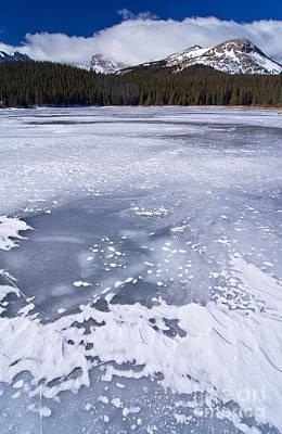 Ice And Snow Of Brainard Lake Print by Benjamin Reed