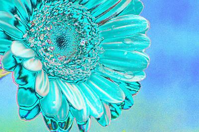 Bloom Digital Art - Ice Blue by Carol Lynch