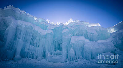 Loon Photograph - Ice Castle by Edward Fielding