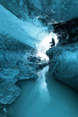 Cavern Photograph - Ice Cave And Subglacial Pond by Dr Juerg Alean