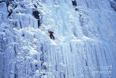 Ice Climbing Print by Mark Newman