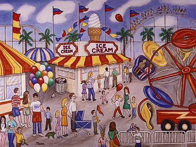 Food And Beverage Painting - Ice Cream At The Carnival by Linda Mears