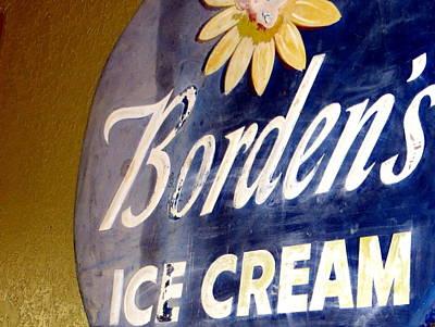 Ice Cream Sign Print by Dorothy Menera