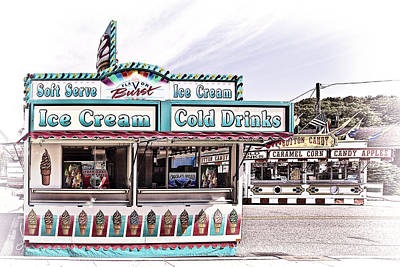 Ice Photograph - Ice Cream Stand by Marcia Colelli