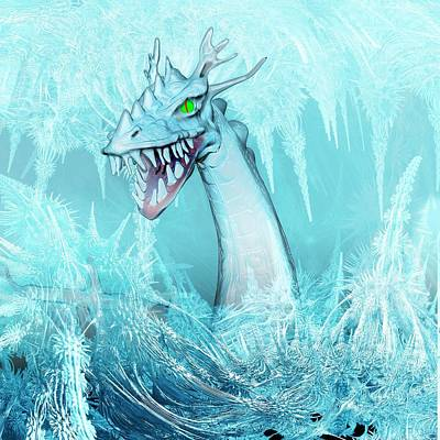 Dragon Photograph - Ice Dragon by Carol & Mike Werner
