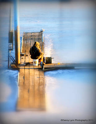 Photograph - Ice Fishing by Dan  Dickerson