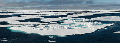 Ice Floes On The Arctic Ocean Print by Panoramic Images