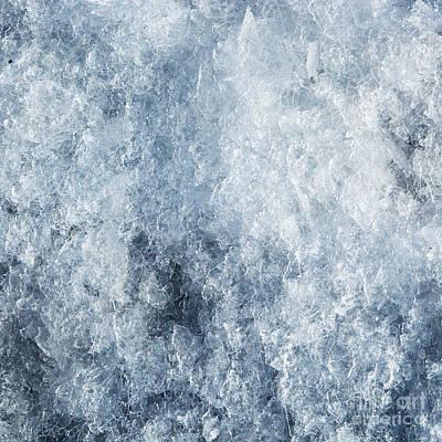 Hard Photograph - Ice Frozen Background by Michal Bednarek