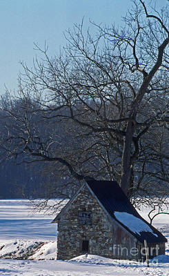Stone Buildings Photograph - Ice House by Skip Willits