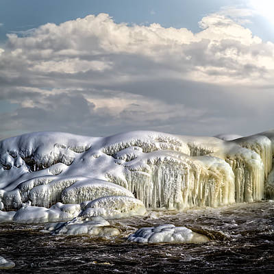 Snow Photograph - Ice On The Rocks by Bob Orsillo