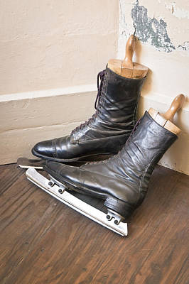 Ice Skates Print by Tom Gowanlock