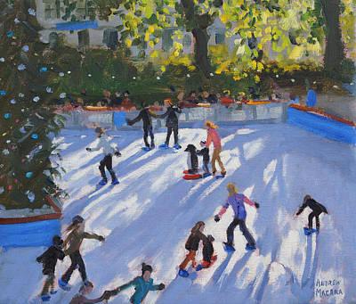 Skating Painting - Ice Skating by Andrew Macara