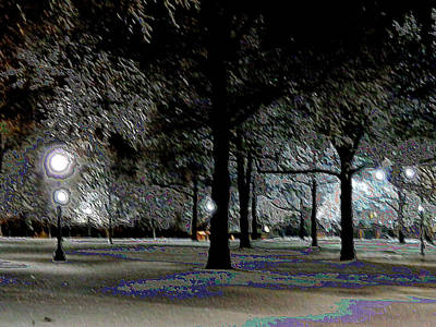 Ice Storm At Keeneland Print by Christopher Hignite