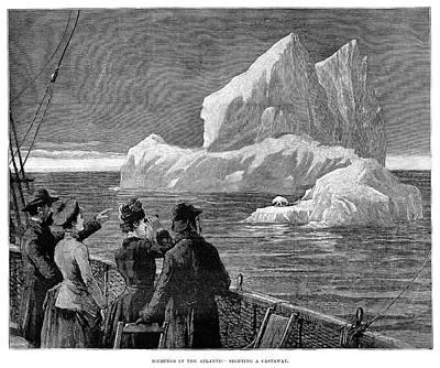 Adrift Painting - Iceberg, 1887 by Granger