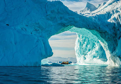 Global Photograph - Iceberg Arch - Greenland Travel Photograph by Duane Miller