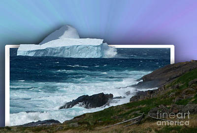 Final Resting Place Digital Art - Iceberg Escape by Barbara Griffin