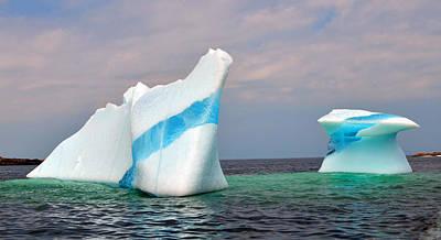 Iceberg Off The Coast Of Newfoundland Print by Lisa Phillips
