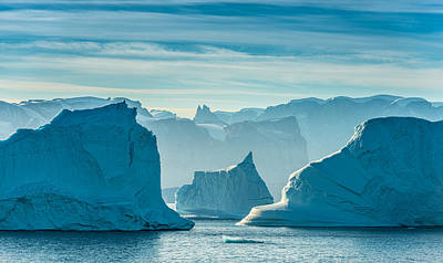 Iceberg View - Greenland Travel Photograph Print by Duane Miller