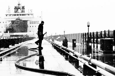 Merchant Mariners Photograph - Iced Down by Tim  Telep