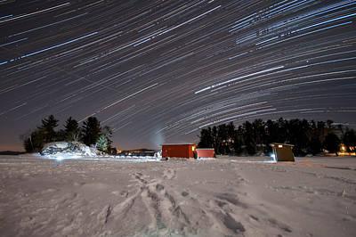 Icefishing Stars Print by Mark Highfield
