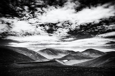 Europe Photograph - Iceland Black And White Mountain Landscape by Matthias Hauser