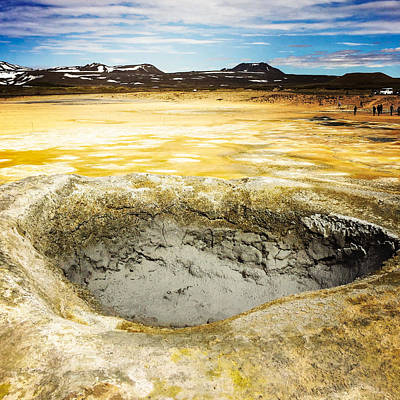 Landscapes Photograph - Iceland Geothermal Area Hverir Namaskard by Matthias Hauser