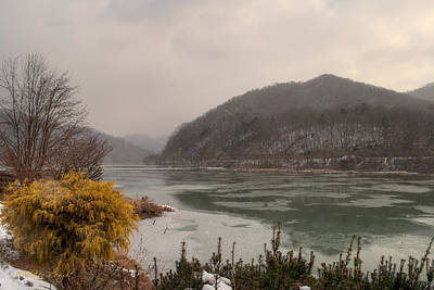 Clouds Photograph - Icey Kanawha by Paulette B Wright
