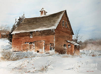 Snowbound Painting - Icicles by Monte Toon