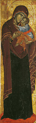 Icon Known As The Virgin Of Tsar Dushan, C.1350 Tempera On Panel Print by Yugoslavian School