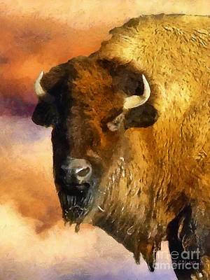 Bison Digital Art - Icon Of The Plains by RC deWinter