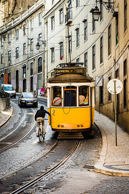 Iconic Lisbon Streetcar No. 28 II Print by Marco Oliveira