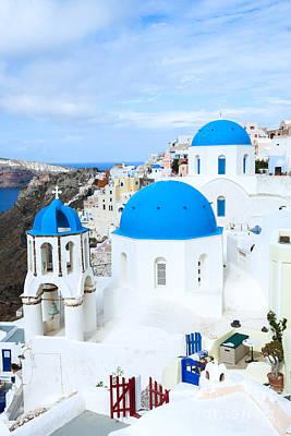 Greek Icon Photograph - Iconic Oia - Santorini - Greece by Matteo Colombo