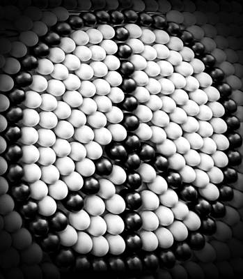 Blak Digital Art - Iconic Peace Symbol In Black And White by Donna Haggerty