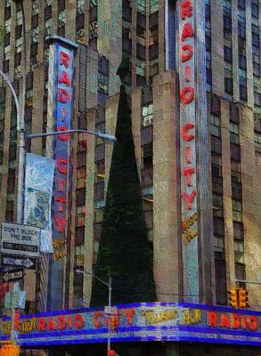 Tourist Attraction Mixed Media - Iconic Radio City by Dan Sproul