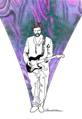 Eric Clapton Drawing - Icons - Eric Clapton by Jerrett Dornbusch