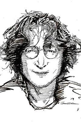 John Lennon Drawing - Icons - John Lennon 2 by Jerrett Dornbusch
