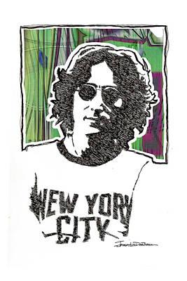 John Lennon Drawing - Icons - John Lennon by Jerrett Dornbusch