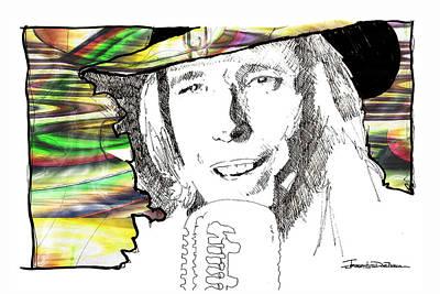 Music Drawing - Icons - Tom Petty by Jerrett Dornbusch
