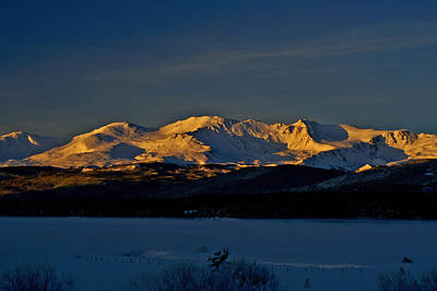 Photograph - Icy Alpenglow by Jeremy Rhoades