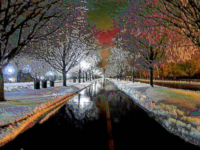 Icy Entrance To Keeneland Print by Christopher Hignite