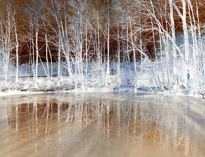 Icy Reflections Print by The Creative Minds Art and Photography