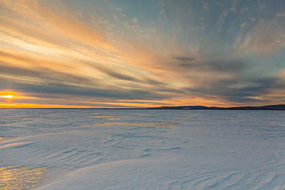 Icy Sunset Print by Pierre Cornay
