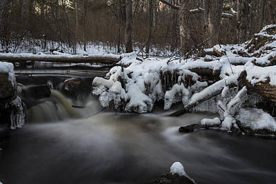 Icy Waters Print by Andrew Pacheco