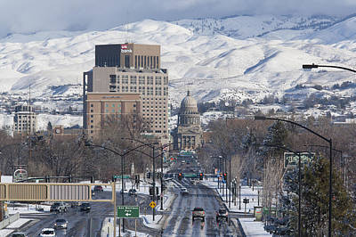 Horizontal Photograph - Idaho Capitol View by Steve Smith