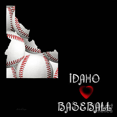 Baseball Digital Art - Idaho Loves Baseball by Andee Design