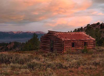 Pioneer Homes Photograph - Idaho Pioneer Historical Cabin by Leland D Howard