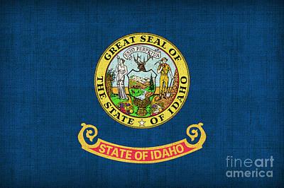 Idaho State Flag Print by Pixel Chimp